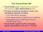 the visual studio ide