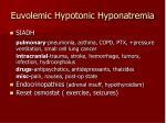 euvolemic hypotonic hyponatremia