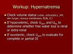 workup hypernatremia