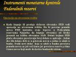 instrumenti monetarne kontrole federalnih rezervi1
