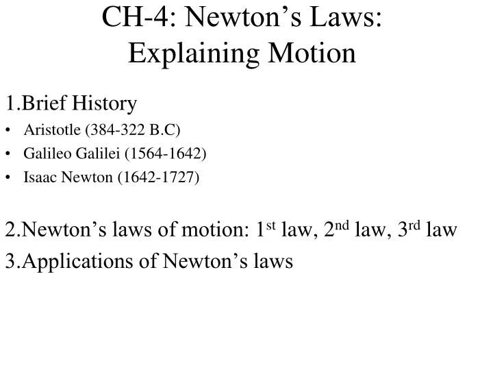 ch 4 newton s laws explaining motion n.