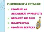 functions of a retailer