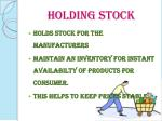 holding stock