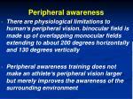 peripheral awareness