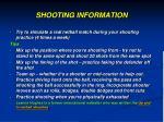 shooting information