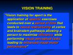 vision training