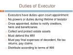duties of executor