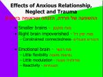 effects of anxious relationship neglect and trauma