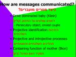 how are messages communicated