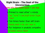 right brain the seat of the unconscious