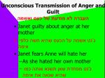 unconscious transmission of anger and guilt