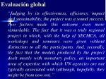 evaluaci n global