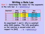 writing a rate law