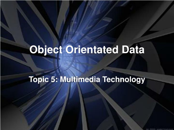 object orientated data n.