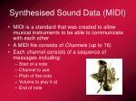 synthesised sound data midi