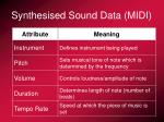 synthesised sound data midi1