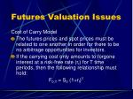futures valuation issues1