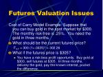 futures valuation issues2