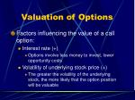 valuation of options1