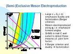 semi exclusive meson electroproduction