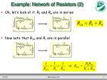 example network of resistors 2