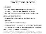 product and process