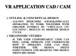 vr application cad cam