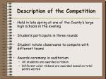 description of the competition