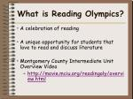 what is reading olympics
