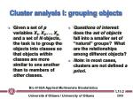 cluster analysis i grouping objects
