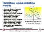 hierarchical joining algorithms cont d