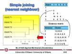 simple joining nearest neighbour