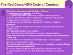 the red cross ngo code of conduct