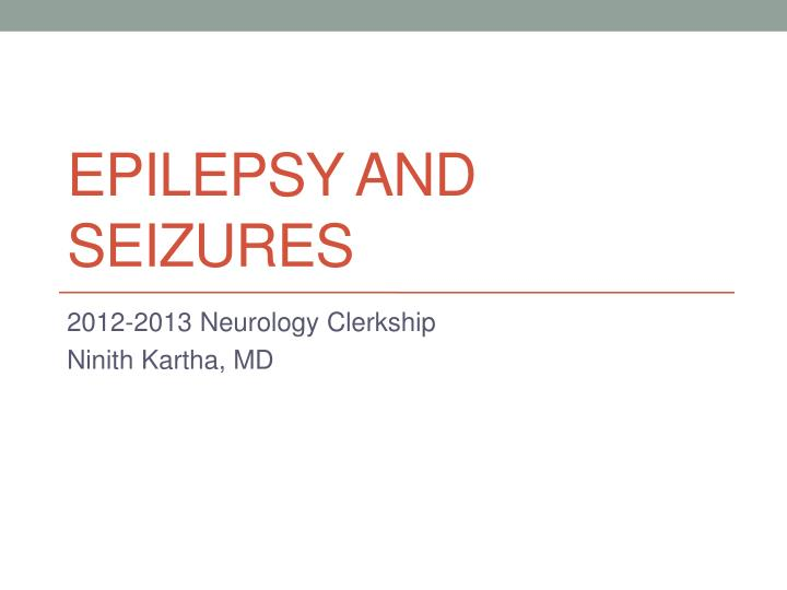 epilepsy and seizures n.