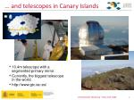 and telescopes in canary islands