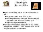 meaningful accessibility