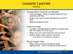 lessons learned general