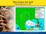 rita enters the gulf tuesday september 20 2005