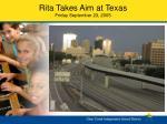 rita takes aim at texas friday september 23 2005