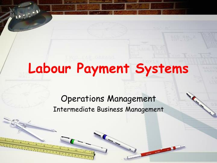labour payment systems n.