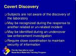 covert discovery