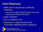 overt discovery