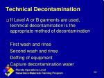 technical decontamination