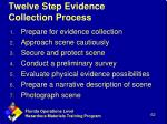 twelve step evidence collection process