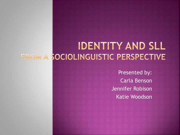 identity and sll from a sociolinguistic perspective n.