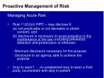 proactive management of risk4