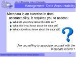 management data accountability