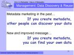 management data discovery reuse