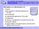 management data liability