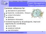 project management project coordination